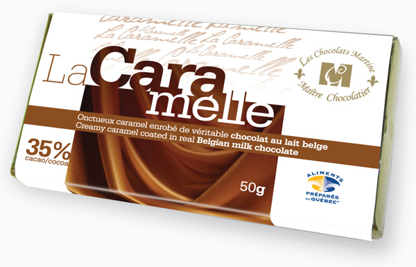 Creamy caramel coated in real Belgian milk chocolate